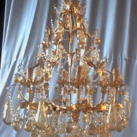 Gold Fruit Cascade Chandelier