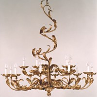 Golden Spiral Acanthus Chandelier