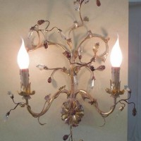 Crystal Berry Sconce
