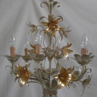 Gold Lily Chandelier