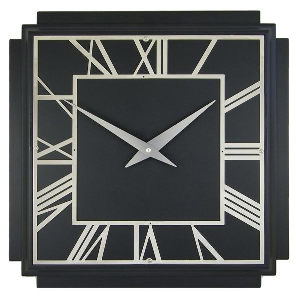 black deco clock cottage industry