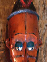 Red Kpelie Mask