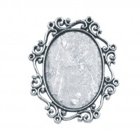 Filigree Oval Frame Pendant