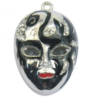 Hand-Painted Mask Pendant
