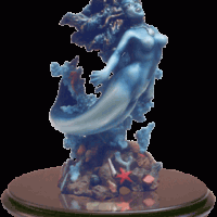 Blue Mermaid Statuette