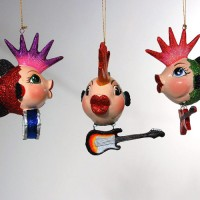 Punk Rocker Fish Ornaments