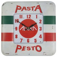 Square Tin Pasta Clock