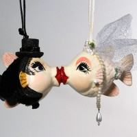 Wedding Fish Ornament