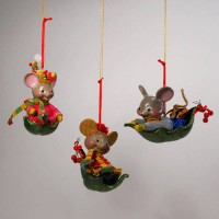 Whimsy Mouse Ornament