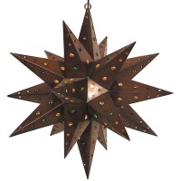 Aged Tin with Marbles Star Lantern