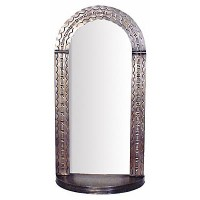 Arched Mirror With Shelf