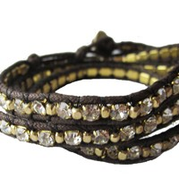 Chicory Brown Wrap Bracelet