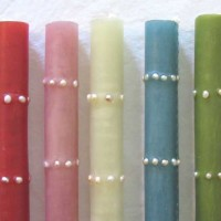 Freshwater Pearl Taper Candles