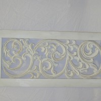 Long White Decorative Iron Panel