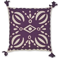 Plum Cutout Pillowcase