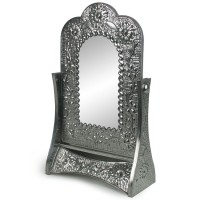 Tin Swivel Tabletop Mirror