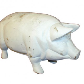 White Cast Iron Pig