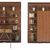 Hideaway Revolving Bookcase Bed