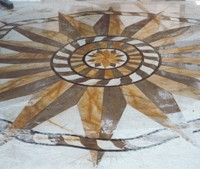 Marble Compass Mosaic