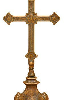 Antique Cross on Stand