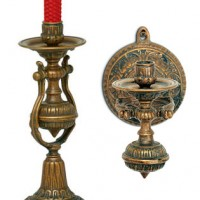 Antique Ship Candelabra and Sconce
