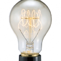 Corkscrew Filament Lightbulb
