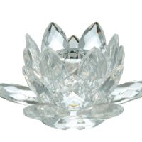 Crystal Lotus Taper Candle Holder