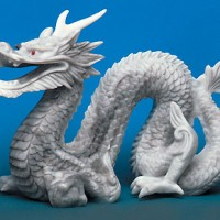 Large Faux Marble Dragon