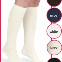 Pima Cotton Knee Socks