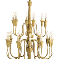 Yellow Iron Chandelier