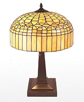 Alabaster Yellow Lamp
