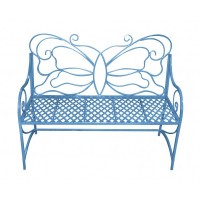 Blue Butterfly Bench