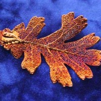 Iridescent Oak Leaf Pendant