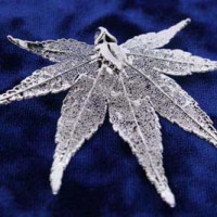 Silver Japanese Maple Leaf Pendant