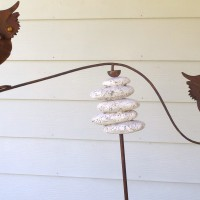 Twin Owls Garden Decor