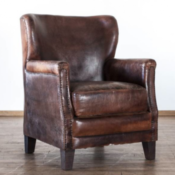 Aged Leather Arm Chair