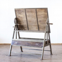 Antiqued Drafting Table