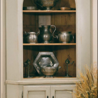 Arch Front Corner Armoire