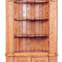 Barrel Back Corner Cabinet