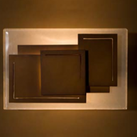 Brown Cube Sconce
