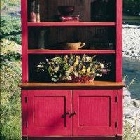 Cherry Red Hutch Top