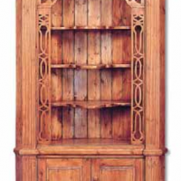 Fancy Antique Pine Corner Cabinet