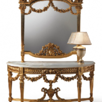Fratelli Side Table and Mirror
