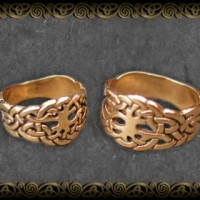 Gold Celtic Wedding Bands