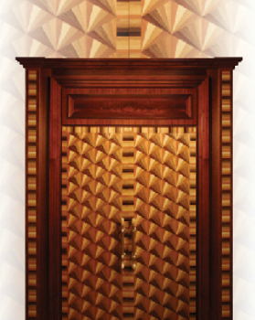 Gold Fan Fratelli Door
