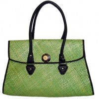 Green Bamboo Handbag
