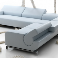 Hinged Leather Sectional