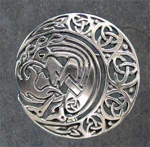Moon Spirit Silver Brooch