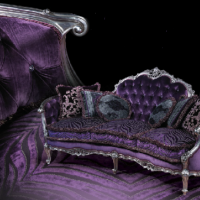 Purple Prince Fratelli Couch