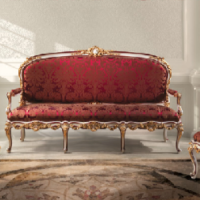 Red Damask Fratelli Seating